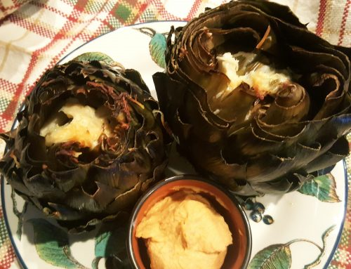 Roasted Garlic- and Romano- stuffed Artichokes